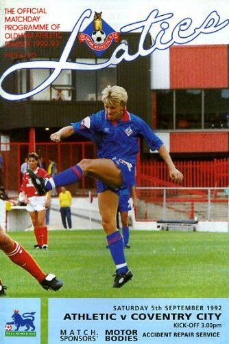 5 September 1992 v Oldham Athletic Won 1-0