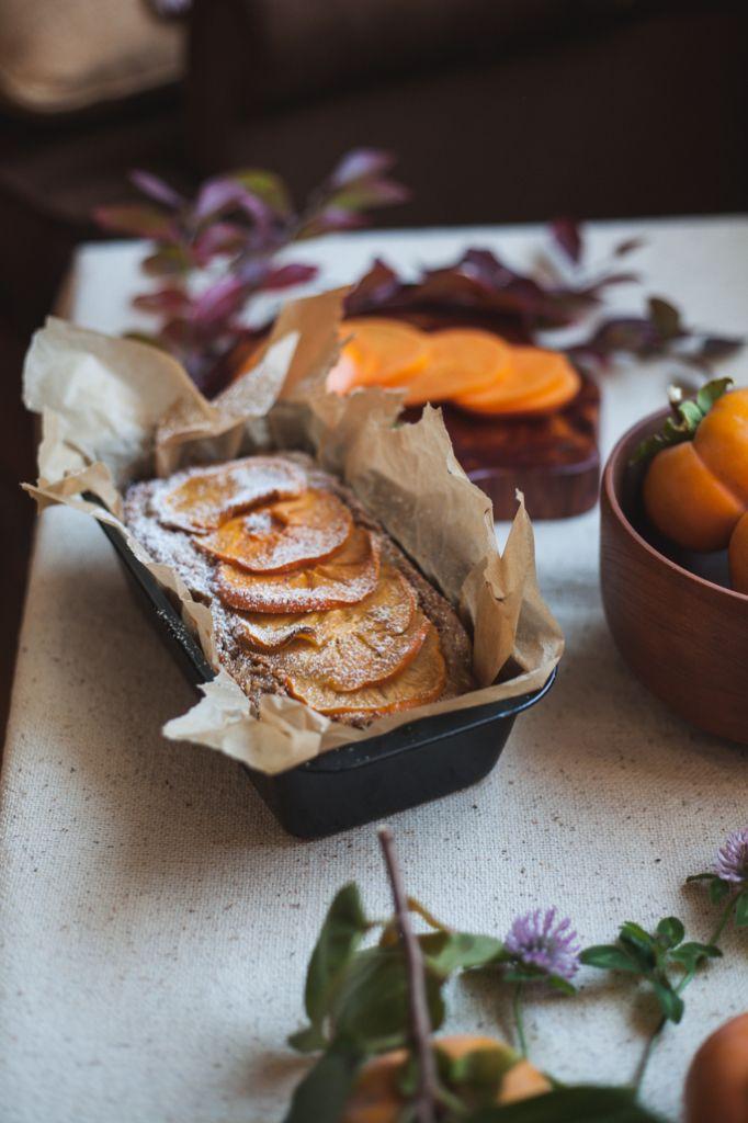 Persimmon Macadamia Nut Cake