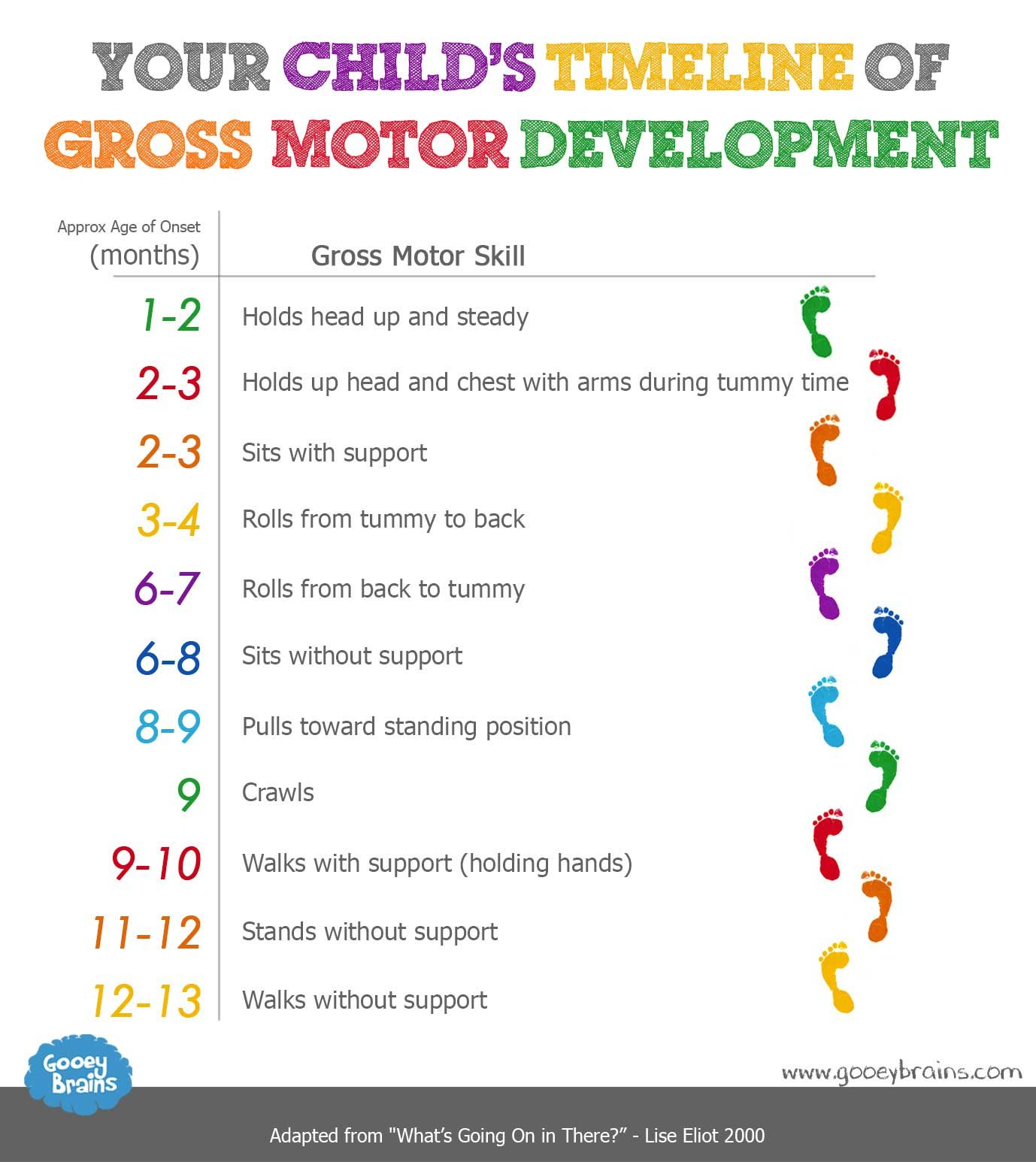 Your Childs Timeline Of Gross Motor Skills