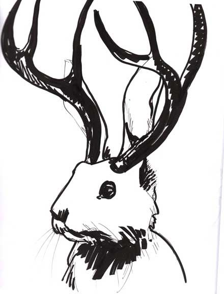 Jackalope.. I've gotten convinced that it was real one time.... xD
