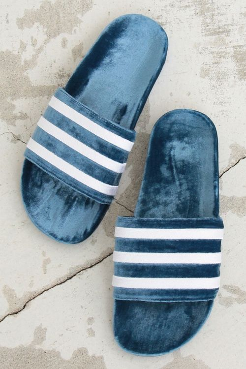 Cozy Girls, adidas' Adilette Slide Now Exists in Velvet