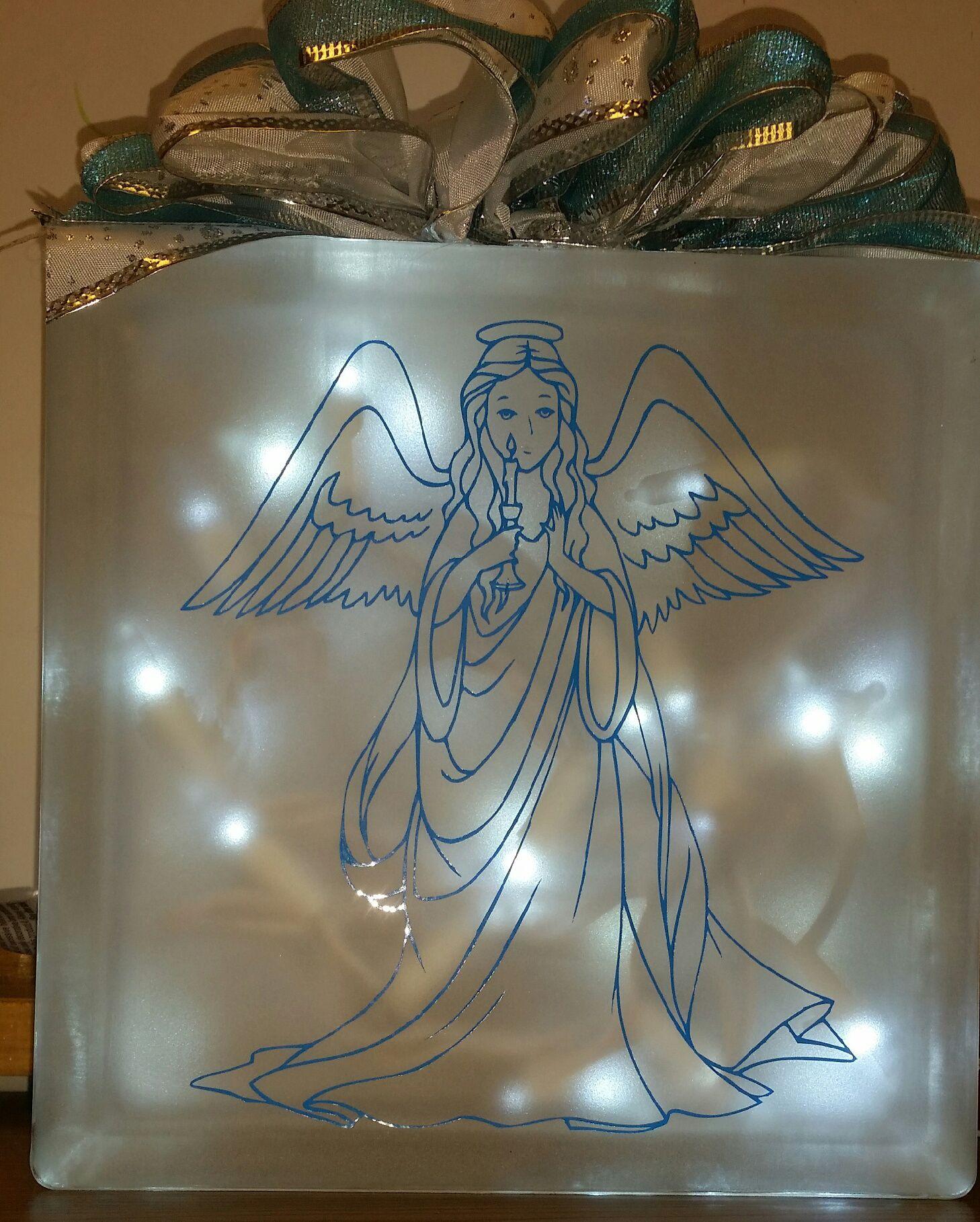 Christmas Angel Christmas angels, Lighted glass blocks