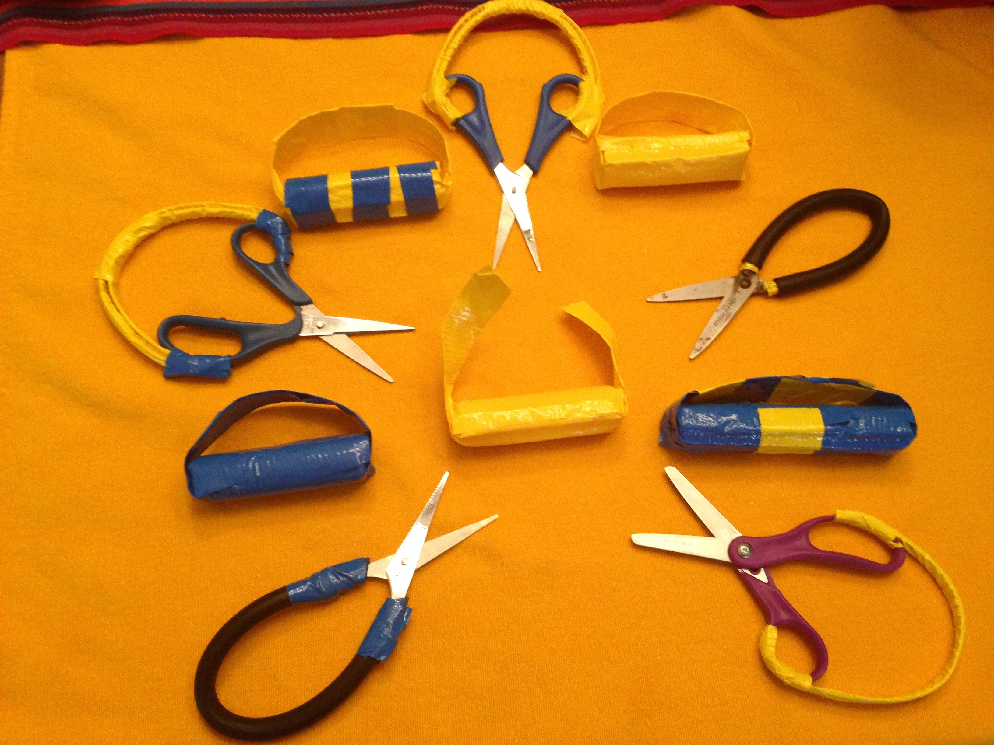 Diy Adaptive Spring Loaded Scissors And Universal Cuffs