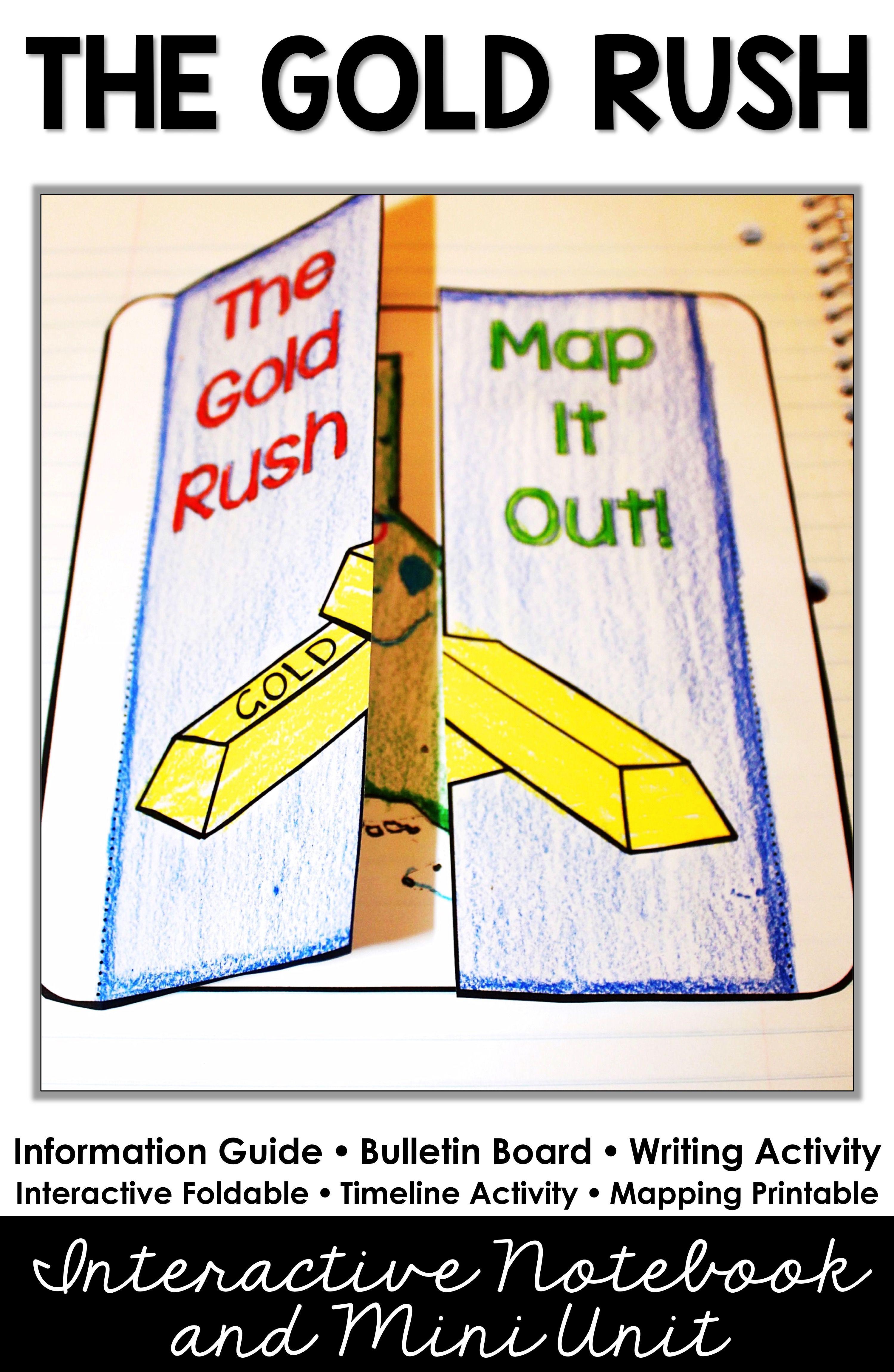 Gold Rush Activities California Gold Rush Digital And Printable Gold Rush Activities Social Studies Elementary 4th Grade Social Studies