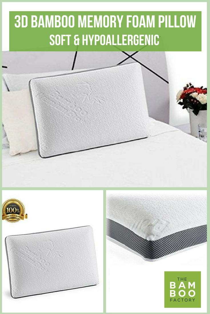 product shipping foam free overstock bath memory inch today cover bamboo from italian pillow with rayon bedding