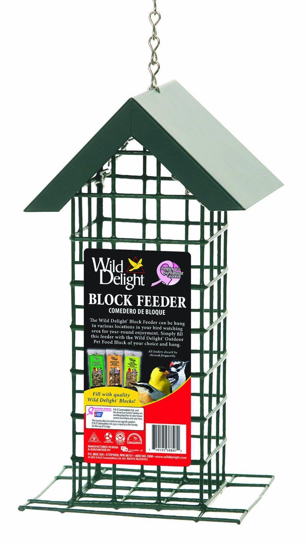 D D Commodities Wild Delight Block Feeder Wild Delight Block Feeder Can Be Hung In Various Locations Wild Bird Feeders Bird Supply Outdoor Decor Backyard