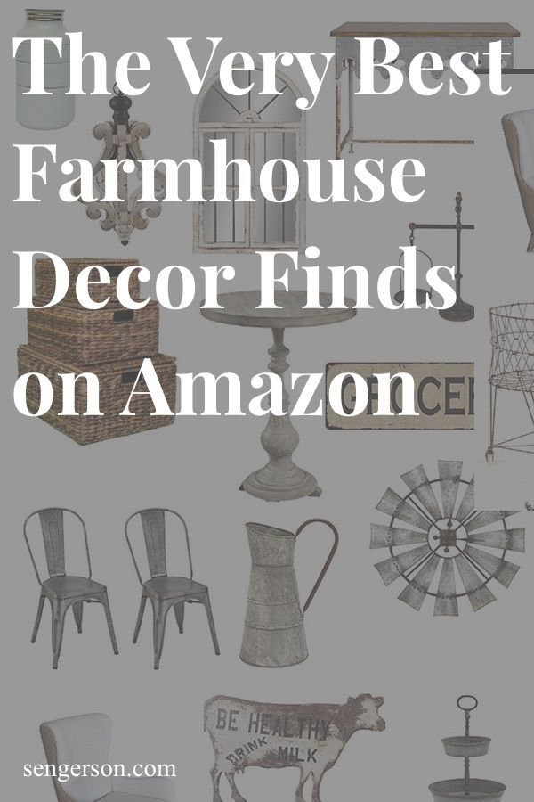 This is an awesome collection of farmhouse style finds from Amazon. Shop here before heading out!! Seriously a cheap, great roundup of fixer upper and farmhouse style items! #farmhousedecoramazon #amazonfinds #farmhousedecor #fixerupperstyle