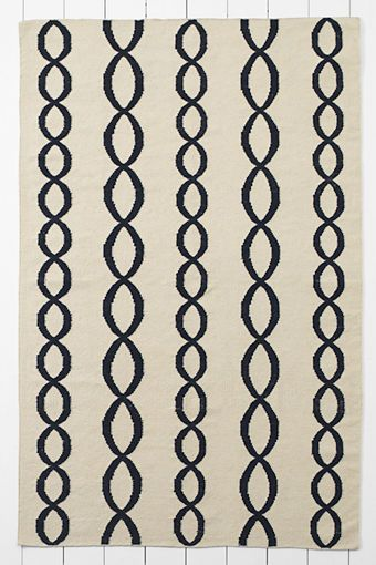 5 X 8 Wool Cable Dhurrie Rug From Lands End 240