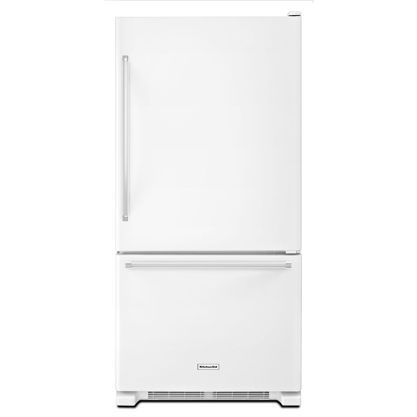 Kitchenaid Krbx109ewh 19 Cu Ft Bottom Mount Refrigerator White Sears Outlet Bottom Freezer Bottom Freezer Refrigerator Kitchenaid Refrigerator
