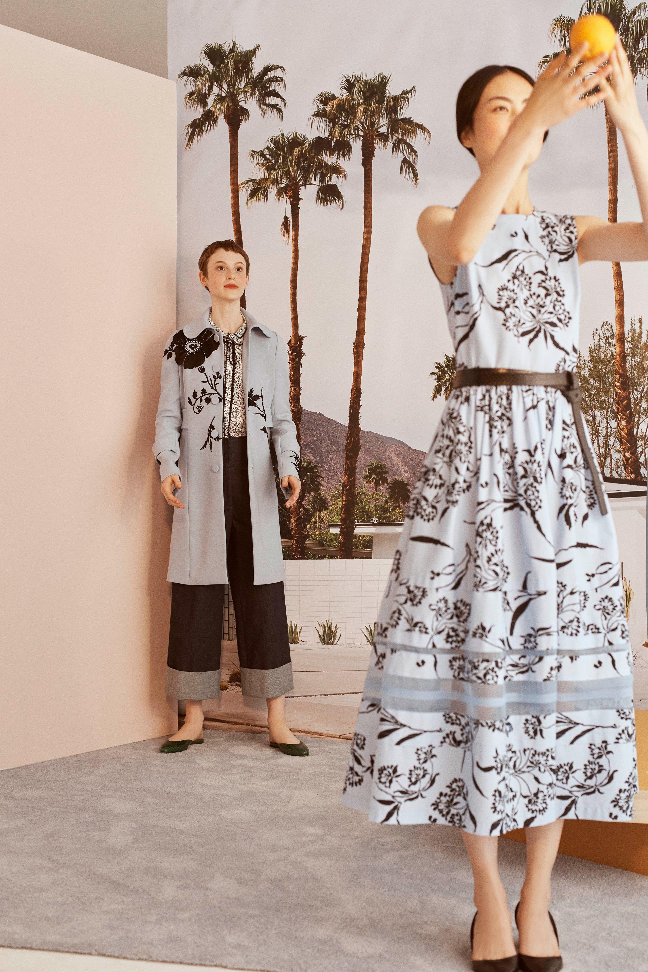 0096546a0 Carolina Herrera Resort 2019 Fashion Show in 2018   catwalk print ...
