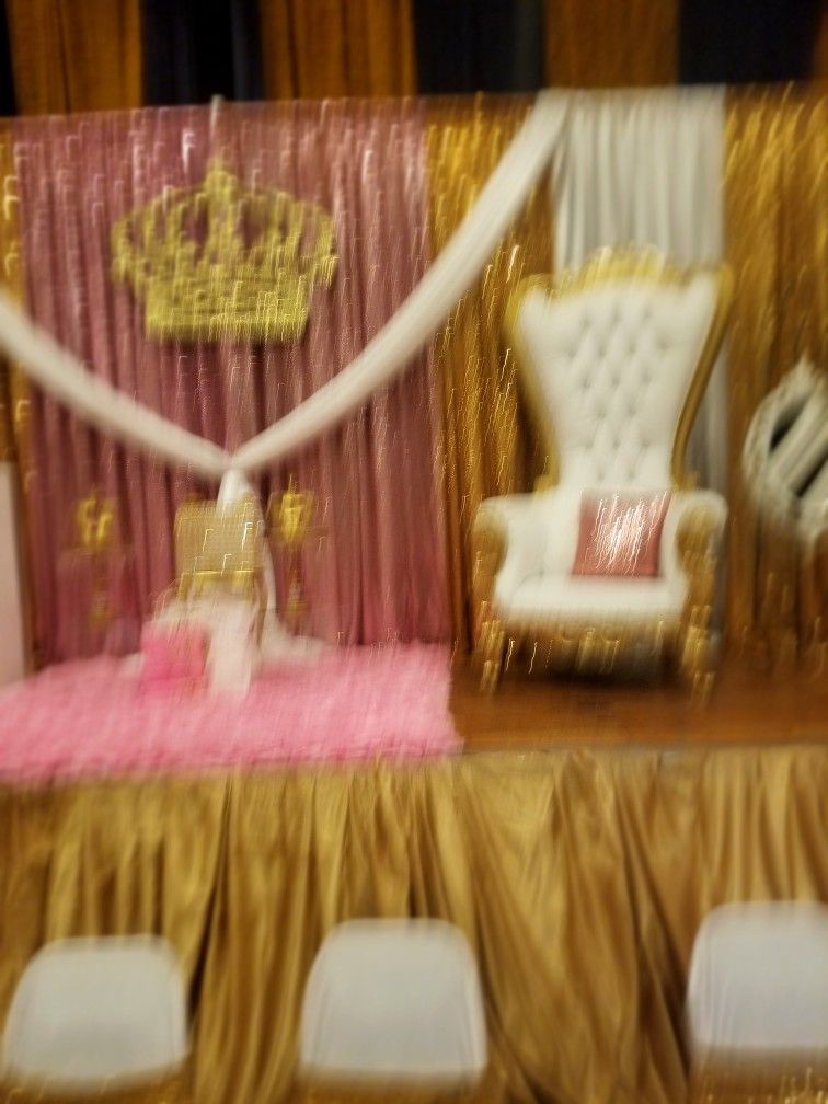 Throne chair rental set up by Throne