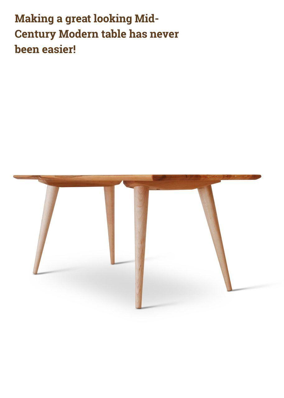 McCobb Mid Century Modern Table Base Set (4 Legs U0026 2 Angled Cleats)