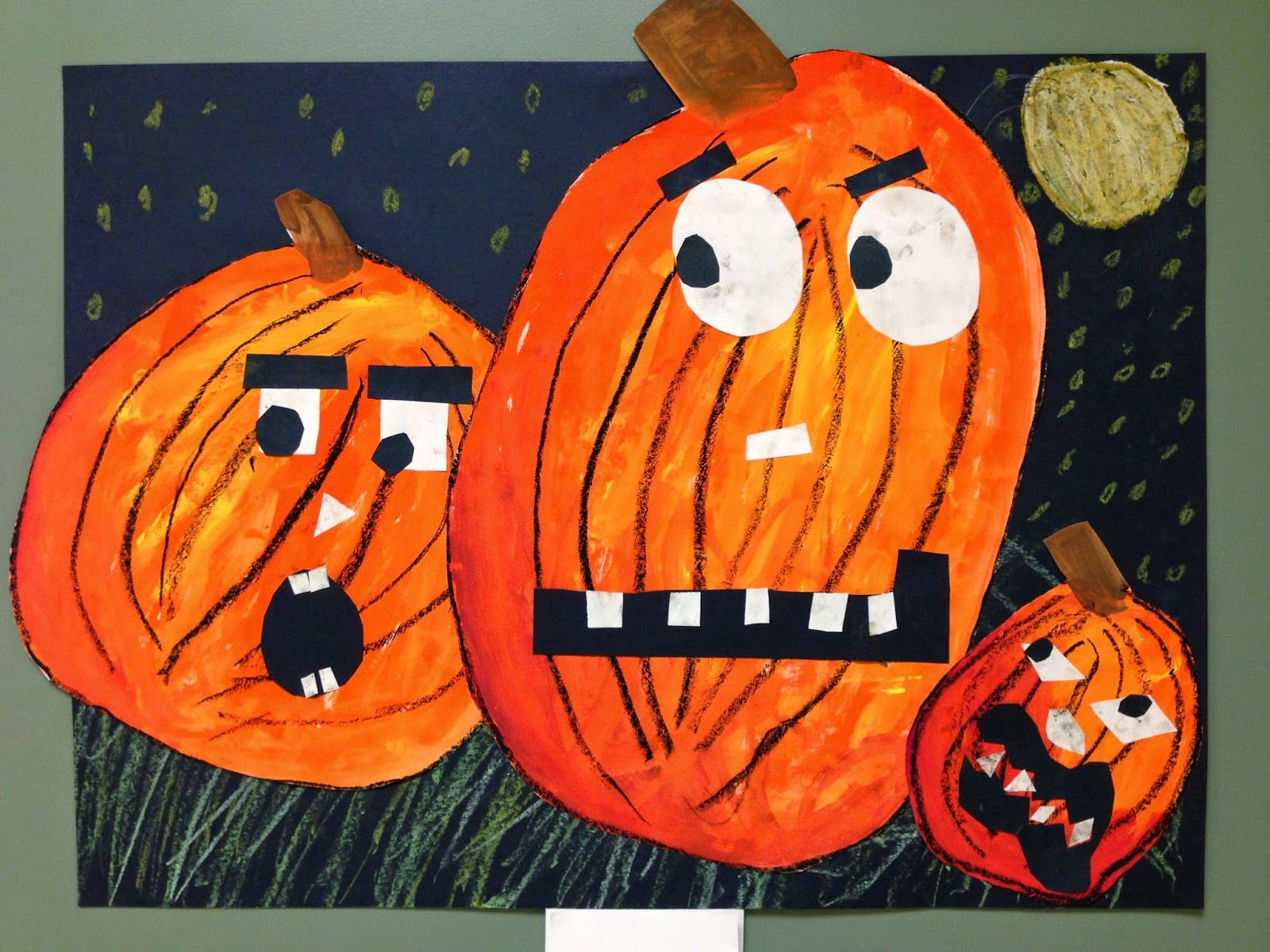 SJS Art Studio: Jack-O-Lantern Fun, Second Grade Style ...