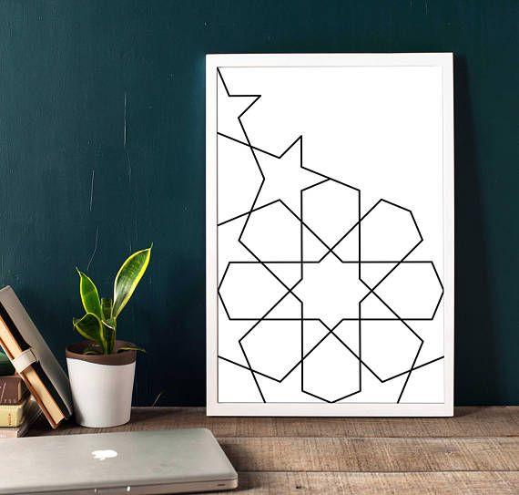 Abstract Geometric Wall Art Art Print Printable artworks