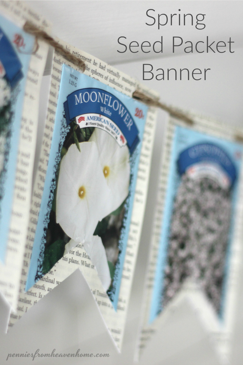 Spring Seed Packet Banner — Pennies From Heaven Home | Garden ...