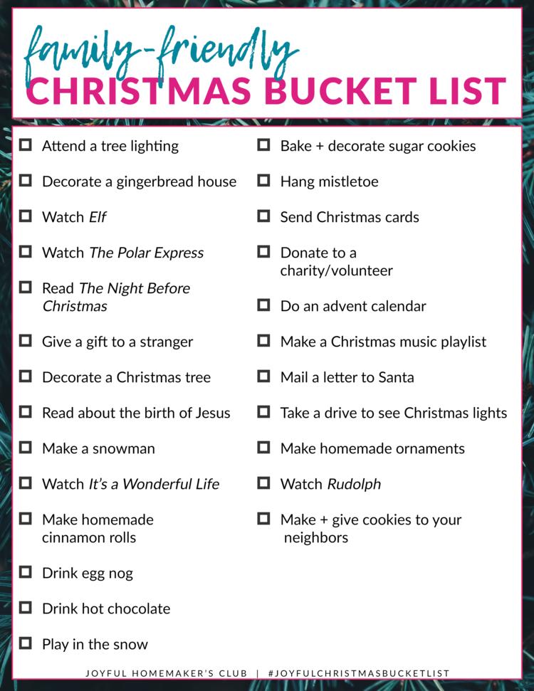 Christmas Bucket List Holiday Ideas Christmas Christmas