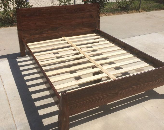 Function Or Form Large Acrylic Painting With Images Wood Bed Frame Solid Wood Bed Frame Rustic Wood Bed Frame
