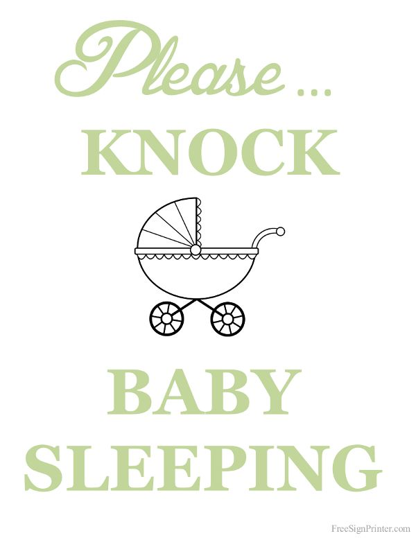 picture regarding Baby Sleeping Sign Printable called Boy or girl SHOWER~Printable Remember to Knock Kid Sleeping Signal вคвƴ