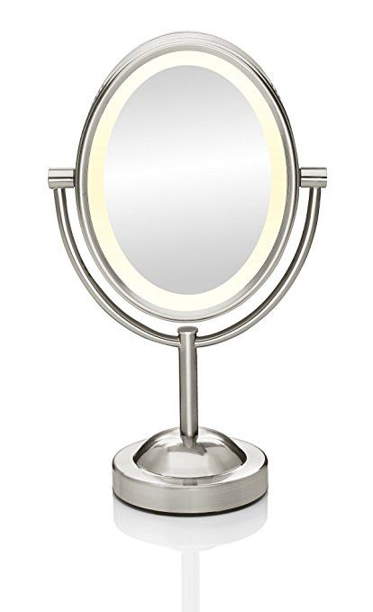 New AmazonSmile Conair Oval Shaped Double Sided Lighted Makeup Mirror 1x 7x magnification New Design - Cool magnifying makeup mirror In 2019