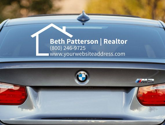 Realtor Decal Realtor Car Decal Real Estate Decal Advertising - Modern business vehicle decals