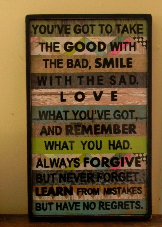 You've got to take the good with the by OurLittleCountryShop