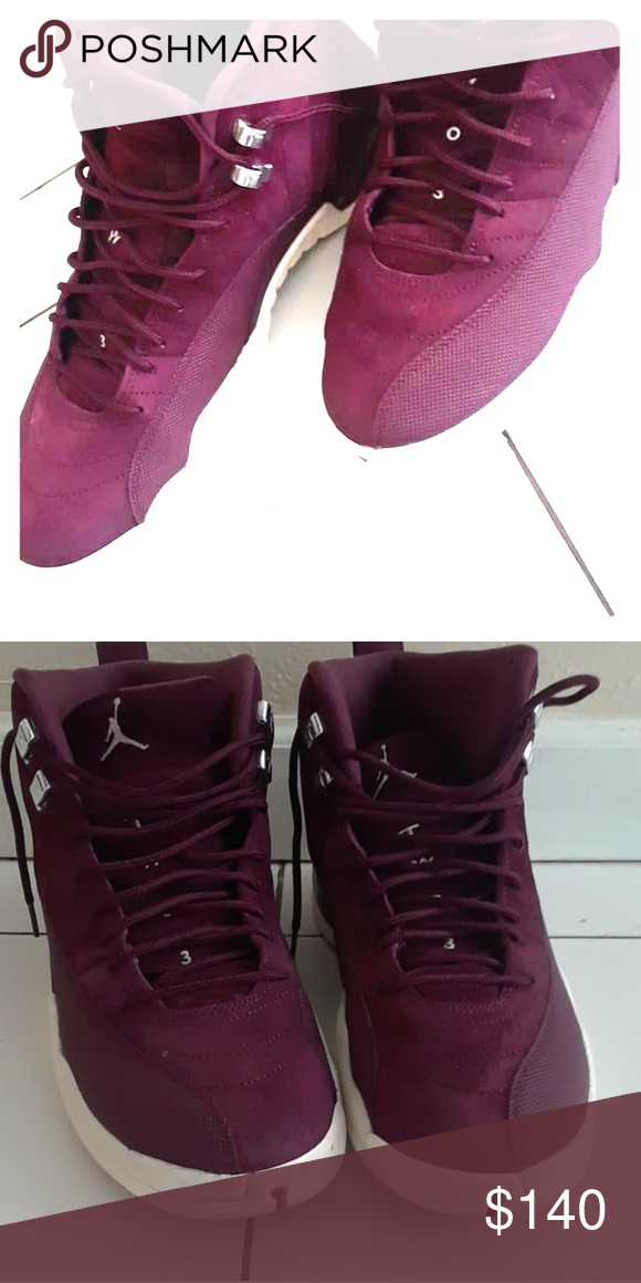 detailed look 1a9b3 48c67 Jordan 12s Maroon suede color Jordan Shoes Sneakers | My ...