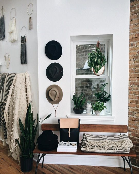 Simple modern boho entryway entryways pinterest for Hipster wall art ideas