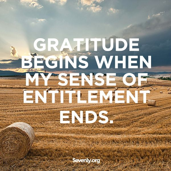Thankfulness.  : )