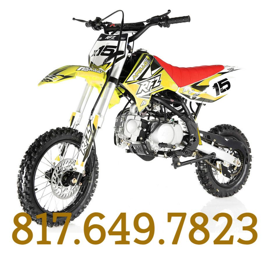 APOLLO DB-X15 125cc Manual Clutch Dirt Bike, 4 Stroke, Single Cylinder for  sale