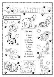 Zoo Animals Worksheets Worksheets Free Printable Free Printable ...