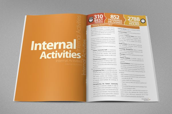 Annual Report for Student NGO on Behance