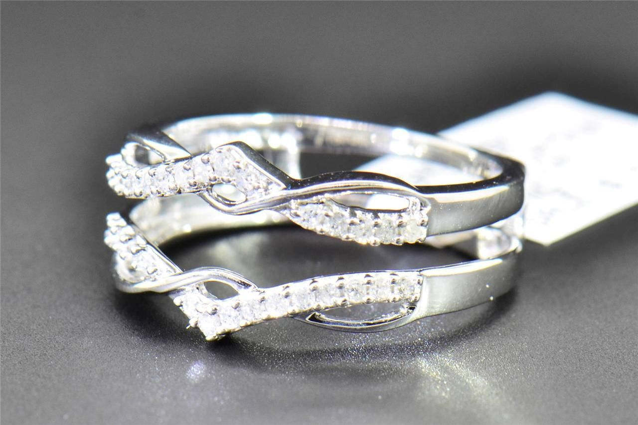 Diamond Enhancer Wrap Solitaire Engagement Ring 1 4 Ct 10K