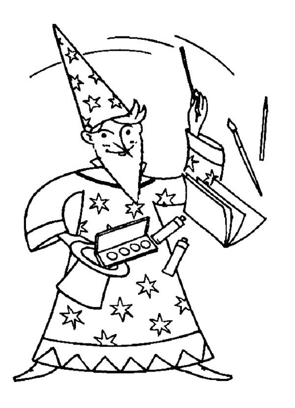 Merlin The Wizard Magic Show Coloring Pages Bulk Color Merlin The Wizard Coloring Pages Magic Show