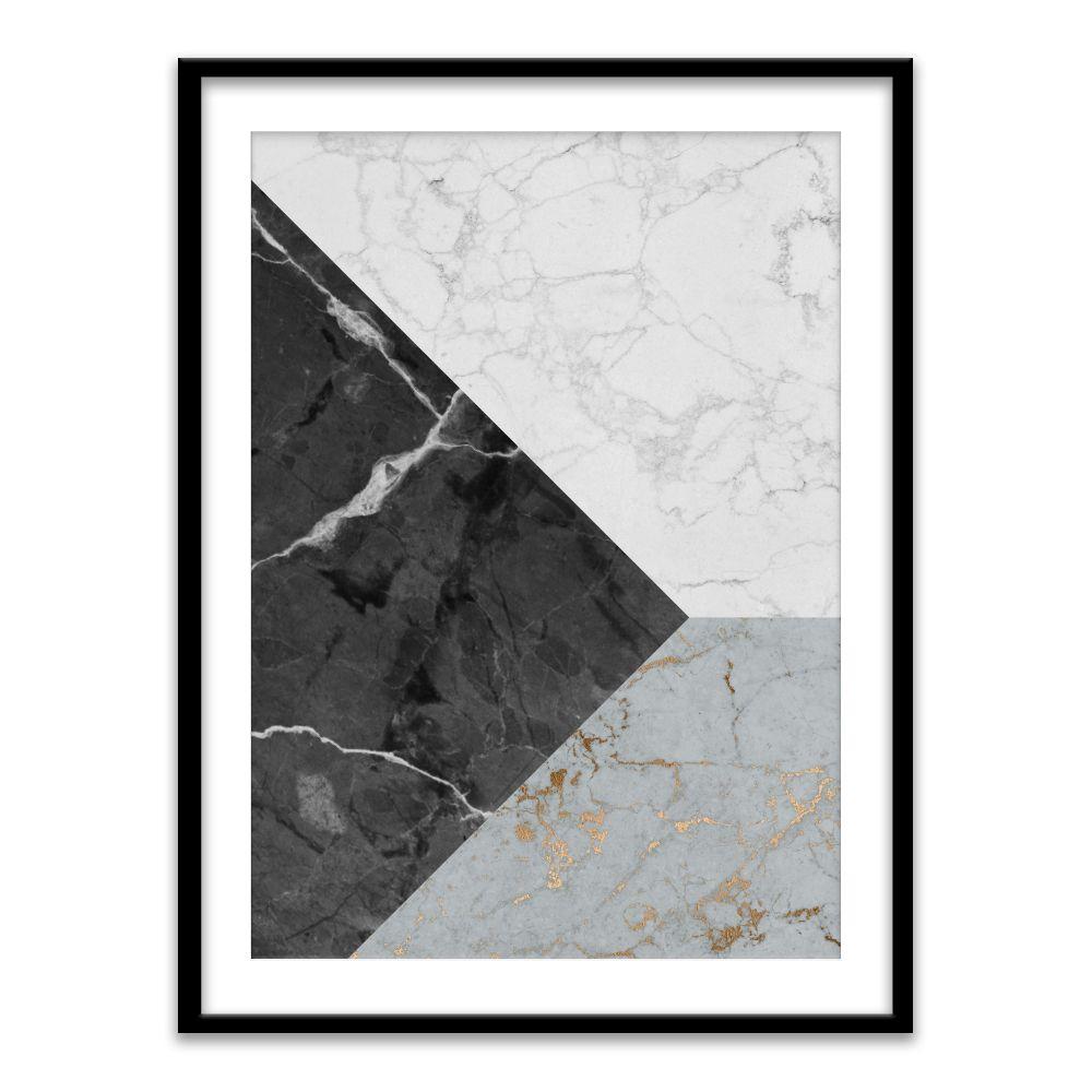 Alle nye Grafisk plakat. Lekkert design med blå, sort og hvit marmor LR-09