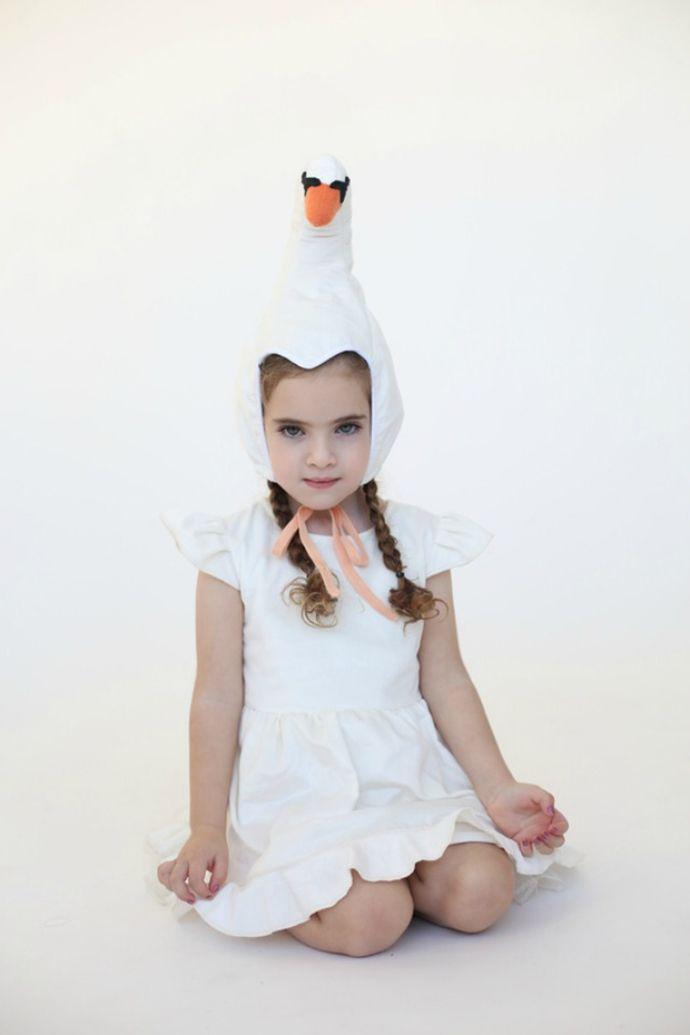 Lovely Swan Costume Hat and Dress - Inbal Carmi Studio