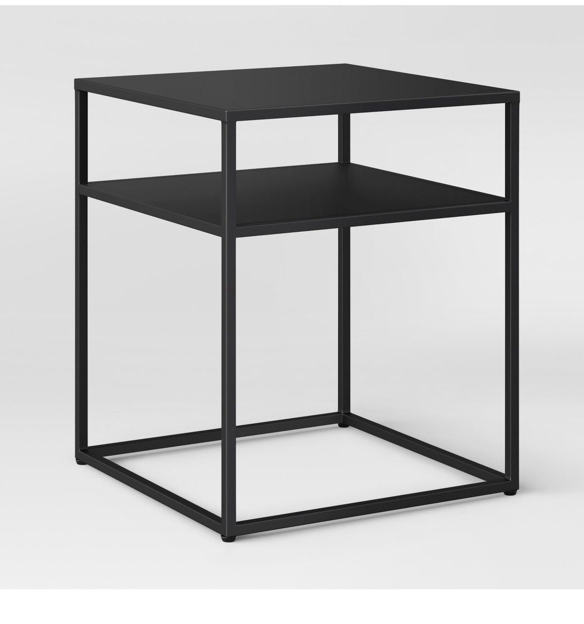 Glasgow metal end table black  Metal end tables, Coffee table