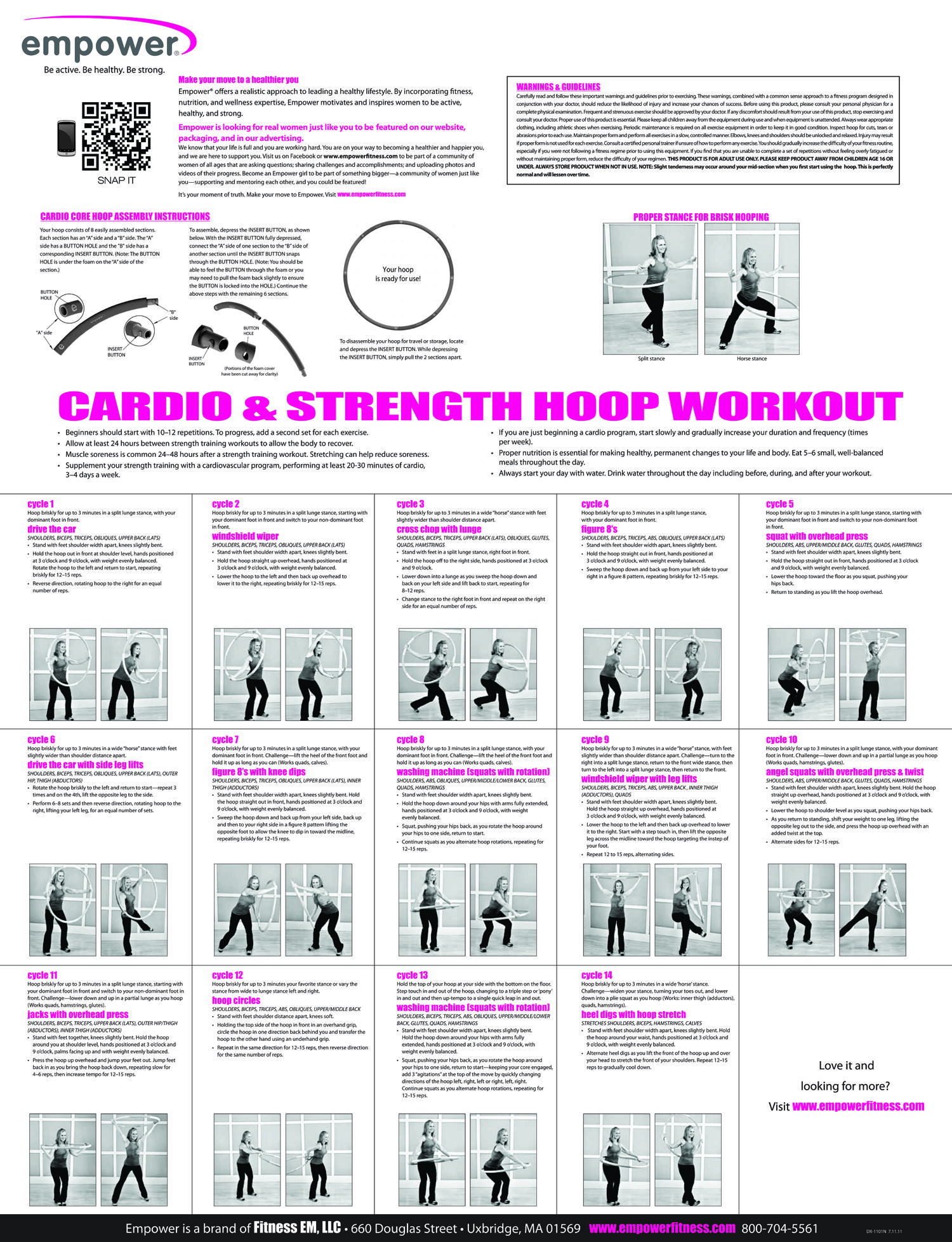 Empower Fitness Cardio Strength Hoop Workout Got My Hoop Just