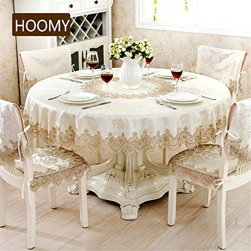 Hoomy Modern Round Tablecloth Sandy Beige Jacquard Table ... Https://www