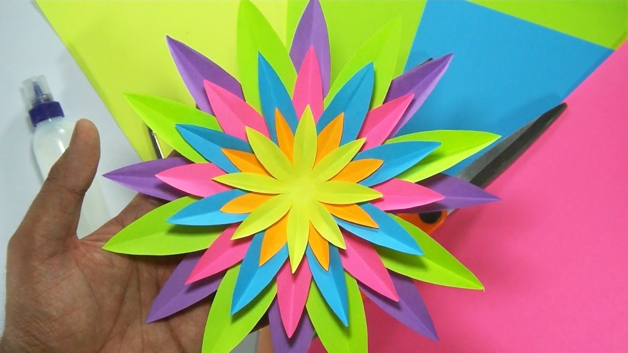How to make paper flower paper art pinterest diy flowers in this video i will show you how to make a paper flower in this paper flower tutorial you will find detailed instructions on paper flower making and how mightylinksfo Choice Image