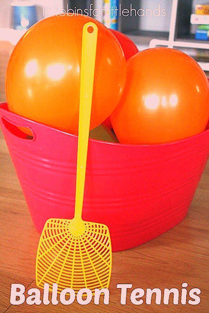 Balloon Tennis Gross Motor Play Activity