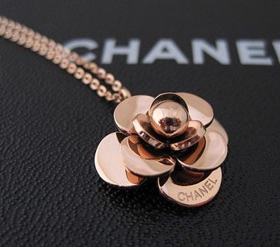 Camellia Chanel 14k Rose Gold Necklace Jewelry Rose Gold Necklace Classy Necklace