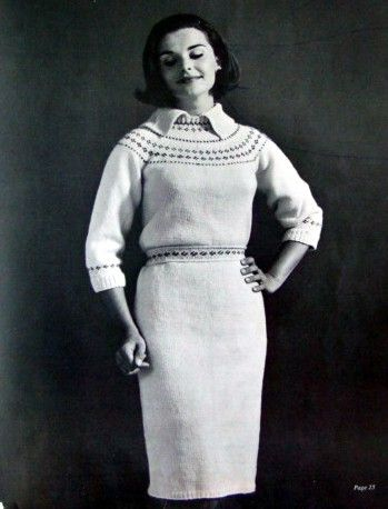 Vintage 60s Knitting Booklet Worsted Men Women Children Dress Matching Sweater Patterns