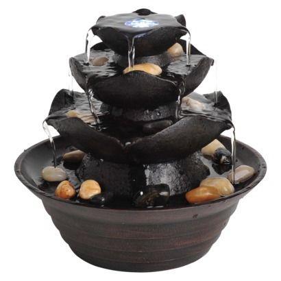 Quinn Tabletop Fountain Lighted Target
