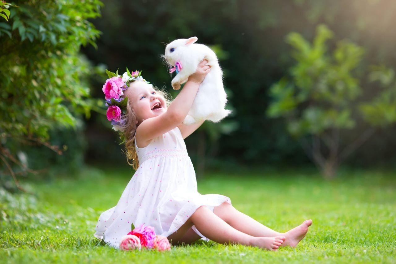 Качественное фото обои дети in 2020 | Dwarf bunnies, Girls ...