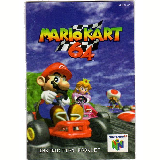 mario kart 64 instruction booklet nintendo 64 game manual nintendo rh pinterest com Mario Kart 64 Controls Mario Kart 64 Maps