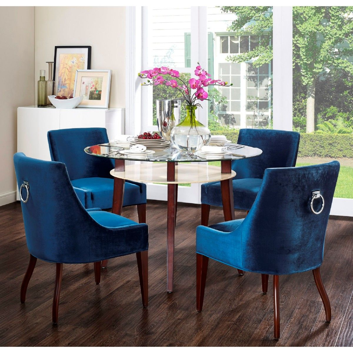 Excludes A Few Products Tov Furniture Dover Blue Velvet Dining Chair W Silver Ring On Back Set Of 2 Dynamichome