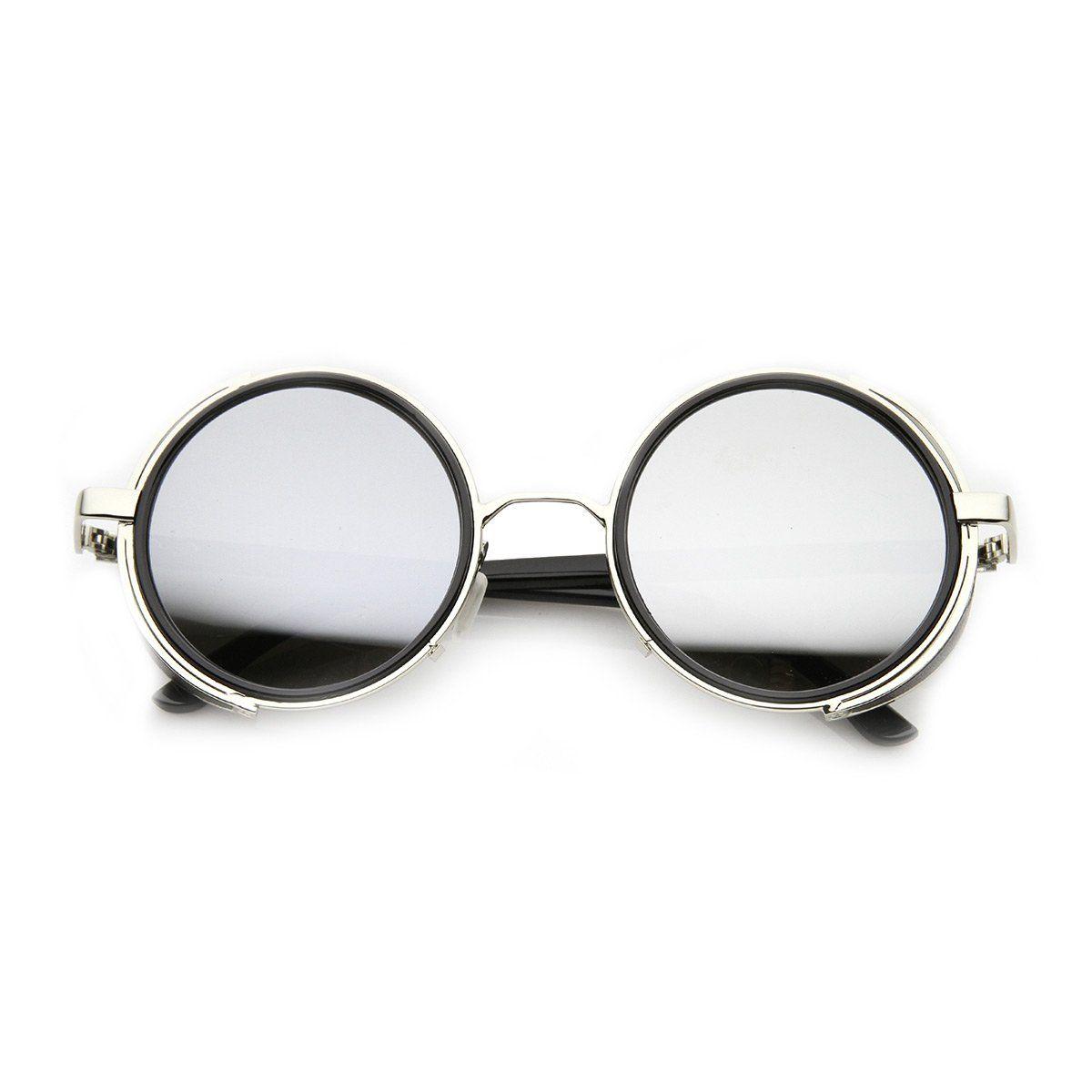 0c8c1431c6 Studio Cover Metal Frame Side Shield Round Sunglasses in 2019 ...