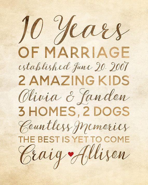 10 Year Anniversary Gift Wedding Anniversary Decor Rustic Etsy 10 Year Anniversary Gift 10 Year Wedding Anniversary Gift 10 Year Anniversary