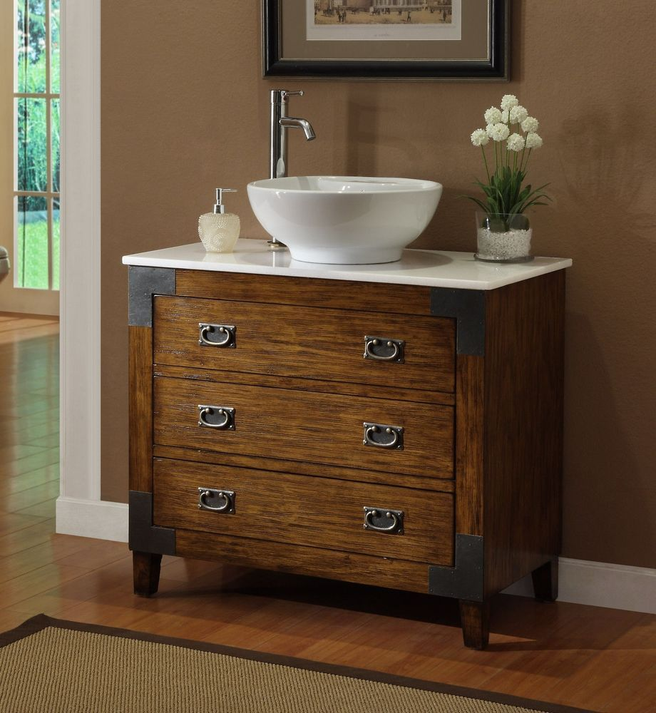 Details About Benton Collection Marble Bathroom Vanity With Vessel