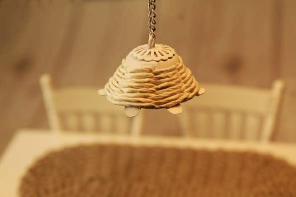 how to: miniature non-working pendant lamp